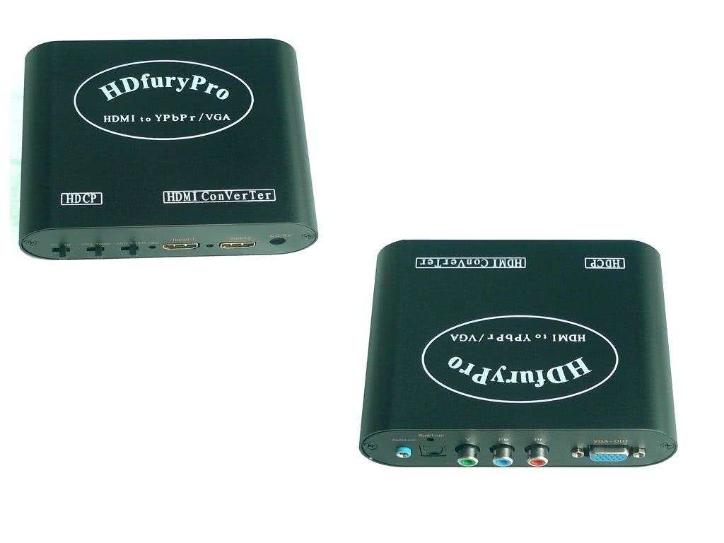 HDFURY Pro - HDMI to Component / YPbPr or VGA Converter - Same functions as HDFURY2, supports up to 1080p