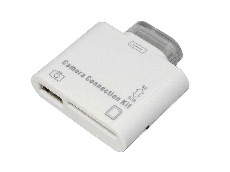 Ipad 1,2 & 3 Compact 1 x USB & SD Card Adapter - USB supports external HDD, Flash Drive, Keyboard etc