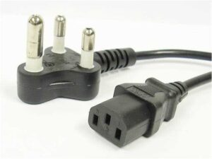 2.5 Meter PC / HDTV Power Cable 3-Pin SA Electrical Plug to Kettle Cord / IEC Plug (C13 Plug)