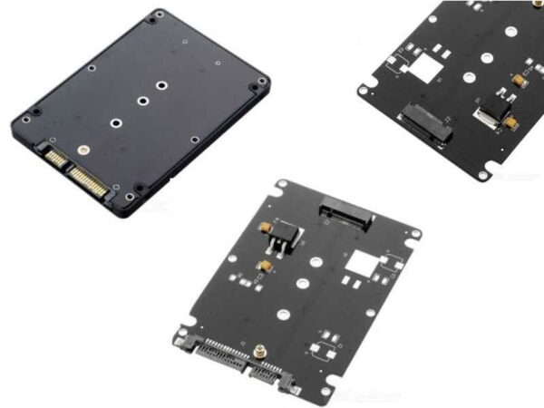 """Internal M.2 SSD Drive Enclosure - M.2 NGFF(SATA3) Solid State Drive to 2.5"""" SATA 3.0 Adapter (7mm Thickness / Height, standard 2.5"""" Drive size)"""