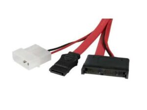 50cm Male Slimline-SATA & Power to SATA Data Cable & Molex Female Power Adapter Cable