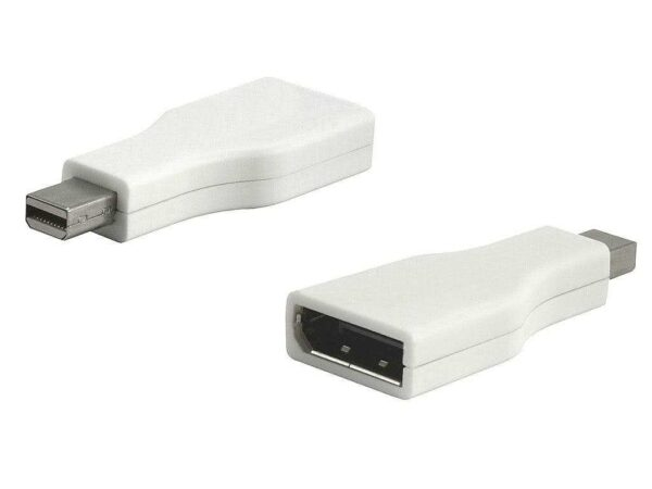Male Mini Displayport (Thunderbolt) to Standard Displayport Female Adapter (Aluminum Unibody Macbook Pro and other mini-DP devices)