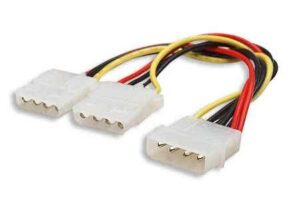 Molex Splitter cable - 1 x Male Molex to 2 x Female Molex