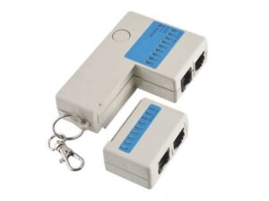 Network cable tester for UTP / STP Cable (RJ45) and telephone cable (RJ11)