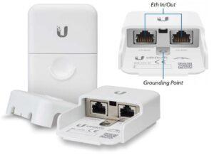 Outdoor Ethernet RJ45 Surge Protector with Gigabit LAN and 802.3af PoE support