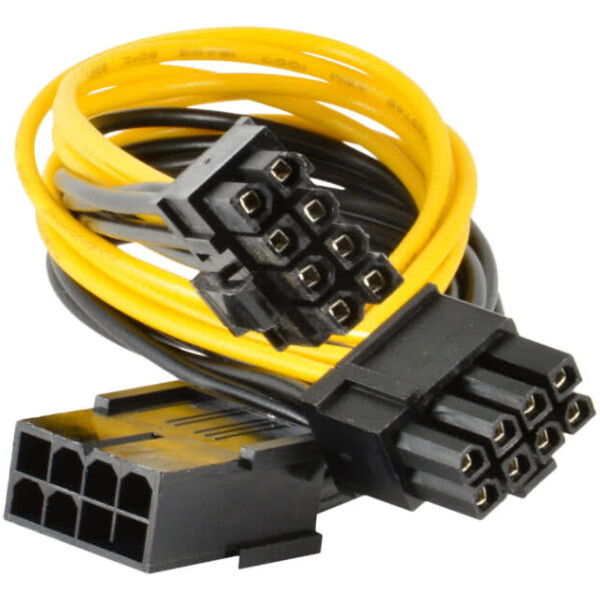 Female 8Pin PCIe to Dual (2x) Male PCIe 8pin (6+2Pin) PCIe Splitter Cable