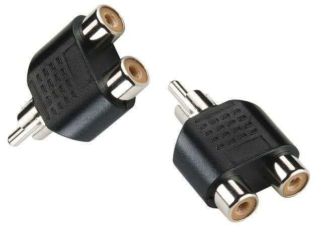 RCA Audio / Video Splitter Adapter (Y-Splitter) (RCA Male to 2 RCA Female)