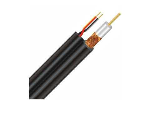 Price per Meter - RG59-with power (CCTV Cable with Power) 75 Ohm Flexible Coaxial Copper Cable (For HD & SD CCTV Cameras Transmission and other High Quality Coax Transmissions)