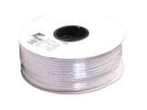 100 Meter Roll RG6u Coaxial Cable (RF Cable) - 75 Ohm, 64 Braid - White