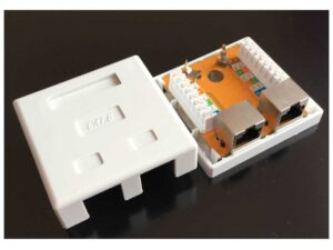 CAT6 Shielded Dual RJ45 Network Connector Surface Mount Box / Krone Type Wallbox