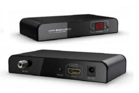 Receiver - HDMI to RF (Digital RF DVB-T via Coax) Extender using RG59/RG6u cable - Up to 90 sources / Unlimited Displays - H.264 HD Compression