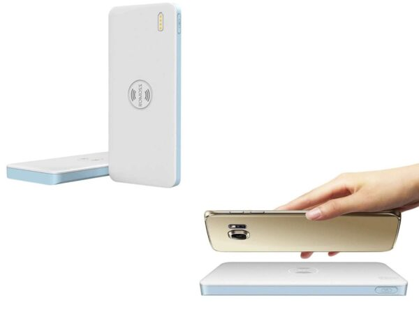 Romoss 5000mAh Freemos 5 Wireless (or Wired) Powerbank Charger (Supports Samsung, LG, Sony, Nokia Wireless Charging Phones)