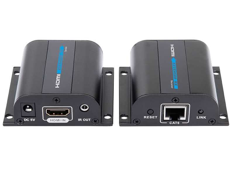 3D HDMI Single Port HDMI Extender (Balun) - with IR over CAT5e / CAT6 50 meter 1080p / 80m 720p
