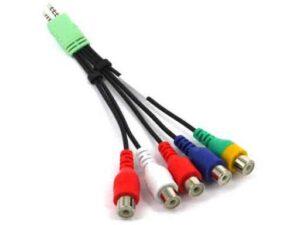 Samsung SmartTV Audio Video / Component AV Adapter Cable - Used to provide RCA AV port on new Samsung HDTV's