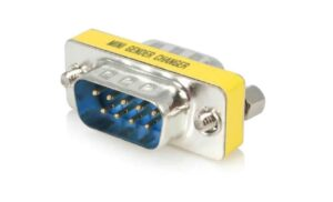 Serial Port DB9 RS232 Male to Male Adapter / Gender Changer