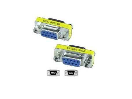 Serial Port DB9 RS232 Gender Changer (Female to Female Coupler)