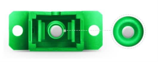 Simplex Single Mode SC APC to SC APC Fiber Optic Cable Joiner | Fiber SC Coupler