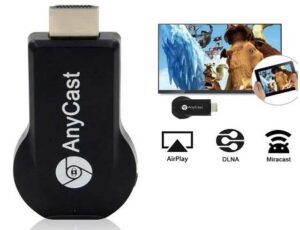 Chromecast Inline HDMI / Wifi Anycast M4 Miracast / ScreenCast (For Samsung/Hauwei/LG/Apple Wifi Screen Duplicate / Mirroring)