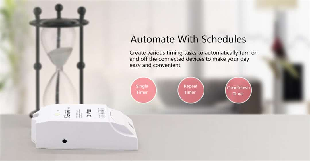 Sonoff DUAL Wifi Programmable Wireless Smart Switch 220v / 16 Amp Dual Max, 10 Amp Single - On/Off / Timer / Scheduled 5