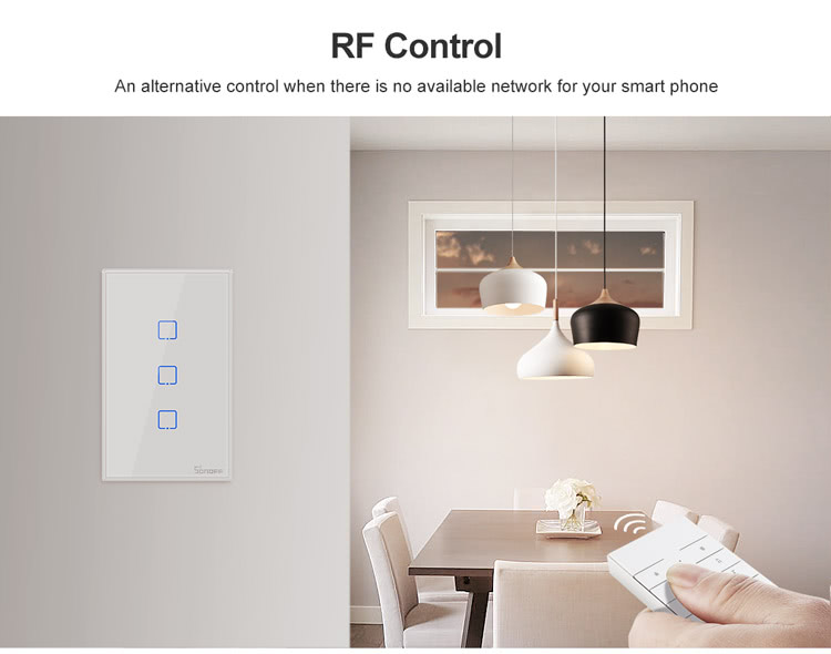 4x2 Size Dual Channel | 2 Button Wireless Light Switch | ITEAD | Sonoff T2US2C