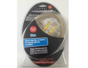 3 Meter 4 Pin SVideo / SVHS Cable with Gold Plated Plugs