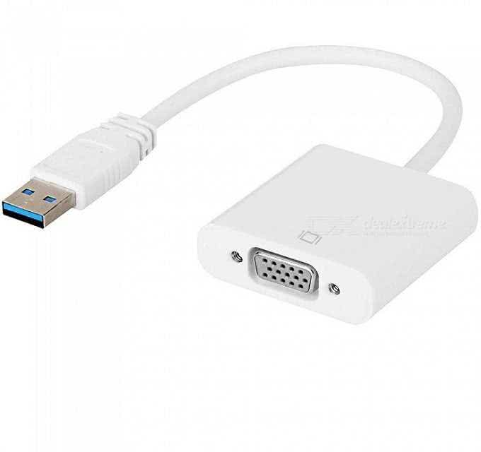 USB 3.0 to VGA Adapter Converter Cable - For Windows, Function as external Video Display Adapter / Graphics Card