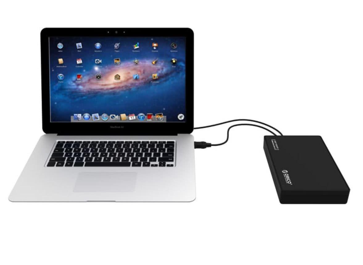 "External USB 3 Hard Drive Enclosure for 2.5"" or 3.5"" SATA Hard Drive or SSD"
