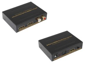 FullHD with Audio 2 Port HDMI Splitter (1x2) - Optical Audio w/Dolby Digital & Stereo Analogue - Up to 1920 x 1080 (1080P) Resolutions