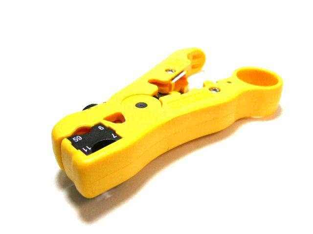 Universal Cable Jacket Stripper (RG-59/6/11/7 cable, UTP/STP and Telephone Cable)