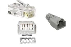 CAT6 / CAT7 RJ45 Unshielded Connector + Insert for 23-24AWG Cable