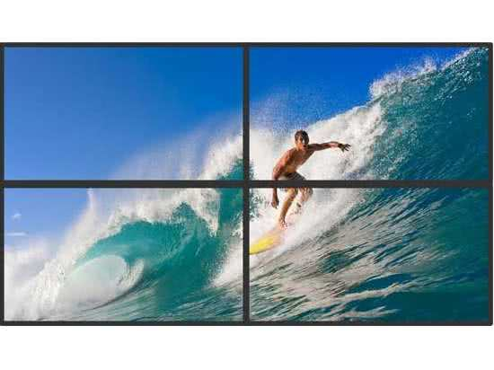 2x2 UltraHD 4k Video Wall Display Equipment (excl Displays) for Digital  Signage over Ethernet Network to HDMI Zero Client - VGA or HDMI Displays  with