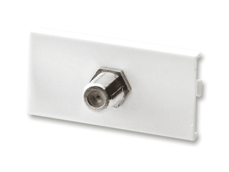 WallPlate Modular Keystone F-Type Barrel Module Insert