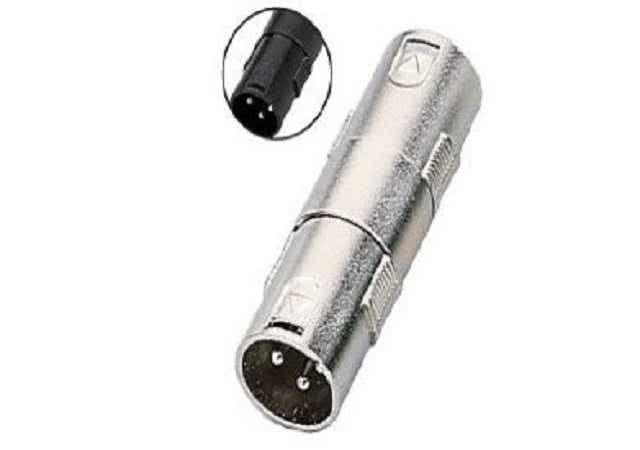 XLR Male to XLR Male Metal Adapter / Coupler