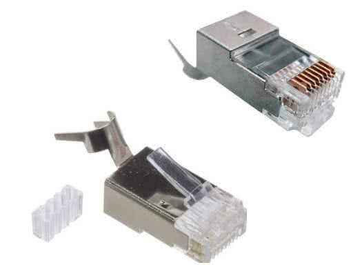 CAT7 Shielded Connector + Boot +Insert 22-24AWG Cable up to 0.62mm Conductor