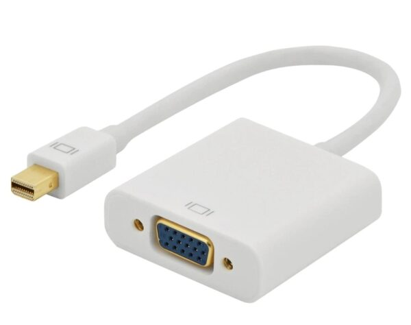 Male Mini DisplayPort to VGA Female Adapter FullHD 1080p