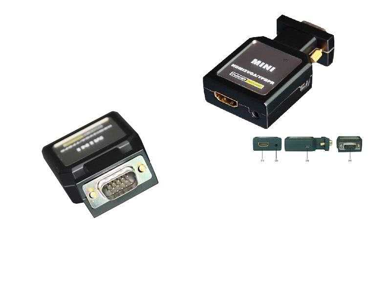 mini-HDFURY Pro - HDMI to Component / YPbPr or VGA Converter - Same functions as HDFURY2