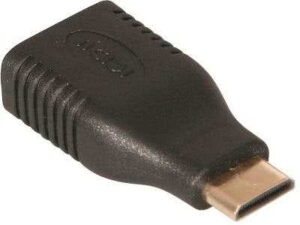 Male mini-HDMI to HDMI Female Adapter (Type_C Male to Type A Female adapter)