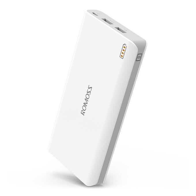 Romoss 16000Mah Powerbank 2 Port USB Charger with Digital Display - External USB portable backup power for Smartphones & Tablets
