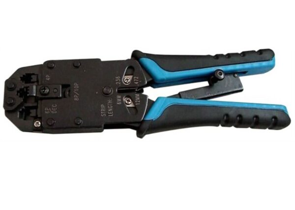 Ratchet RJ45 Network Cable Crimper Tool – Supports RJ11 / RJ12 Combo Strip and Crimping
