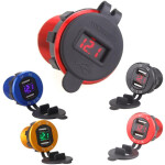 12 Volt to 5 Volt Car / Boat Lighter Socket with LED Volt Meter – Dual USB Charger Socket