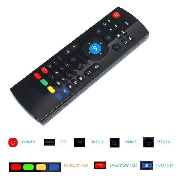 MX3 2.4G Gyroscope Wireless Keyboard and Mouse / IR Remote Control for Media Player 2