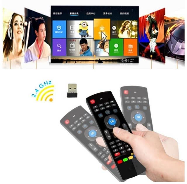 MX3 2.4G Gyroscope Wireless Keyboard and Mouse / IR Remote Control for Media Player