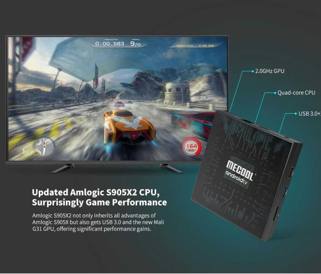 MeCool KM9 Pro TV Box 4k Ultra HD AndroidTV 9.0 Google Certified Media Player - DSTV Now 4