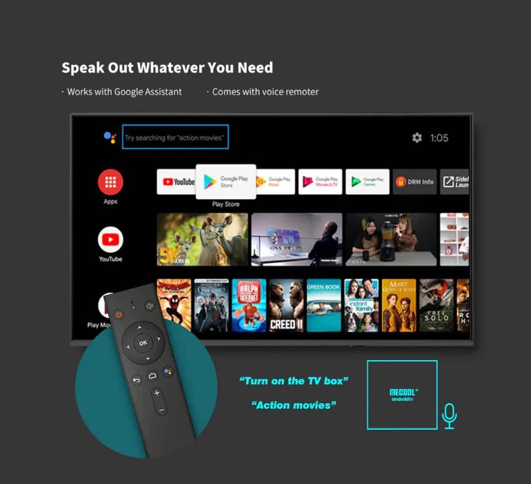 MeCool KM9 Pro TV Box 4k Ultra HD AndroidTV 9.0 Google Certified Media Player - DSTV Now 6
