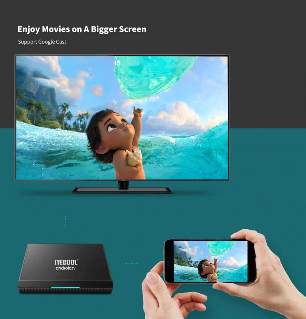 MeCool KM9 Pro TV Box 4k Ultra HD AndroidTV 9.0 Google Certified Media Player - DSTV Now 7