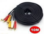 10 Meter 3 RCA to 3 RCA Cable | RCA 3x Male to Male Stereo Audio Cable