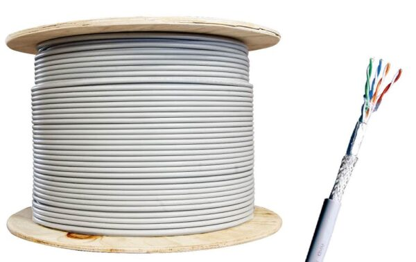 100 Meter Roll CAT6 STP CCA Gigabit Ethernet Network Cable
