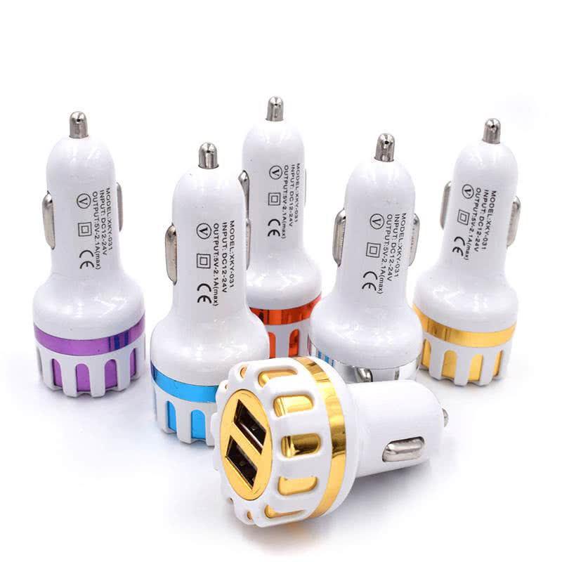 Dual USB Car Charger 5V 2.1A - Auto Charger Adapter