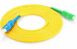 70 Meter Simplex SC to SC Fiber Optic Cable / Single Mode  3mm, Fiber Drop Cable G.657.A1 Spec 9/125um