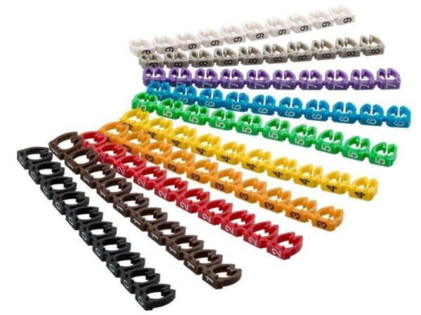 100 Pack Network Cable Label Clips | Cable Markers 4-6mm Wire Numbering